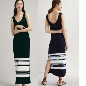 * New MASSIMO DUTTI striped knit ribbed dress XS